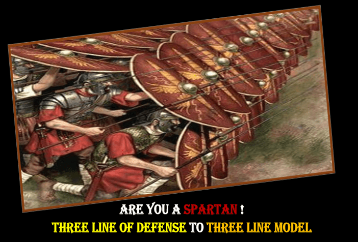 Are you A Spartan!Three Line of Defense -to -Three Line Model