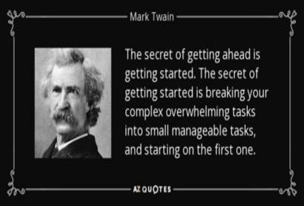Small Steps Lead To Great Success
