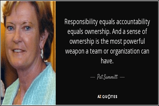 The importance of Accountability