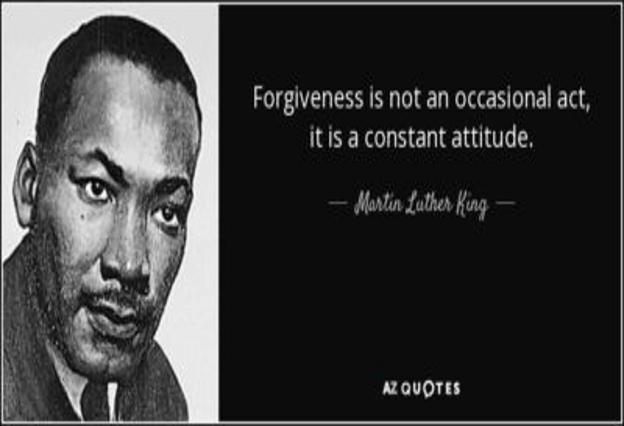 Forgiveness is a constant attitude